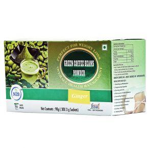 N2B Green Coffee Powder 3gX30 sachets box - Ginger