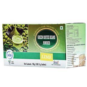 N2B Green Coffee Powder 3gX30 sachets box - Lime