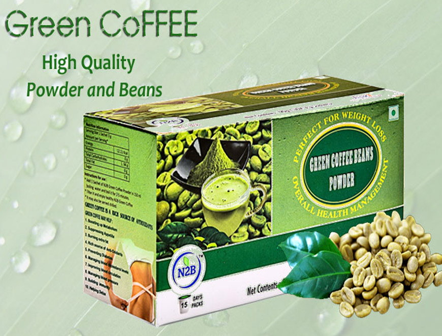 N2B Green Coffee Beans Powder