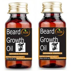 N2B Beard Growth Oil 60 ml Advance Formula Pack of 2 Hair Oil  (120 ml)