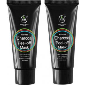 N2B Charcoal Peel Off Mask 60ml Pack of 2  (120 ml)