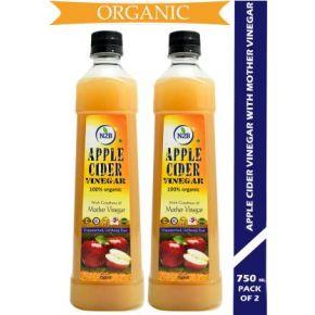 N2B Organic Apple Cider Vinegar  (1500 ml, Pack of 2)