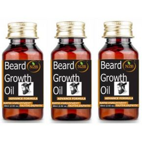 N2B Beard Growth Oil 60 ml Advance Formula Pack of 3 Hair Oil  (180 ml)