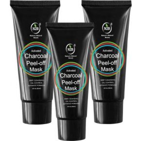 N2B Charcoal Peel Off Mask 60ml Pack of 3  (180 ml)