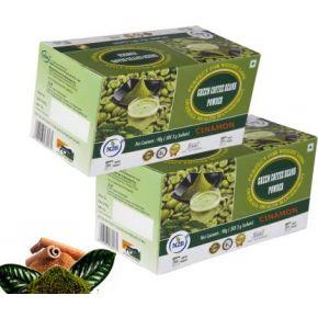 N2B Green Coffee Beans Powder with Cinnamon Powder (30 sachets, 3g each) Pack of 2 Instant Coffee  (2 x 90 g, Cinnamon Flavored)