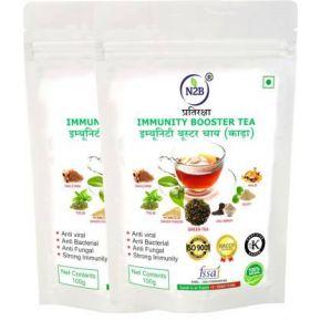 N2B Immunity Booster Green Tea (Kadha) 100g Pack of 2 Green Tea Pouch  (200 g)