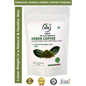 N2B Organic Green Coffee Beans Powder for Weight Loss Management Instant Coffee  (230 g, Green Coffee Flavored)