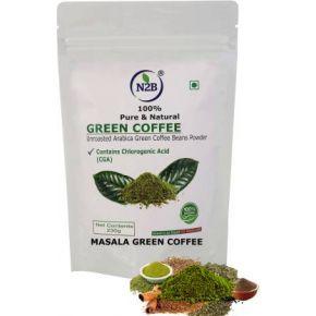 N2B Organic Masala Green Coffee Beans Powder 230g Instant Coffee  (230 g, Spices Flavored)