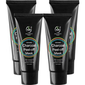 N2B Charcoal Peel Off Mask 60ml Pack of 4  (240 ml)