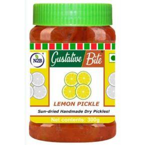 N2B Sun-dried Handmade Dry Lemon Pickle with less oil 300g Lemon Pickle  (300 g)