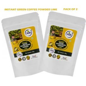 N2B Instant Green Coffee Lime 230g Pack of 2 Instant Coffee  (2 x 230 g, Green Coffee Flavored)