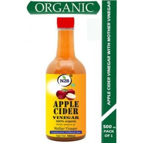N2B Apple Cider Vinegar with Mother of Vinegar for Weight Loss 500 ml (Pack of 1) Vinegar  (500 ml)