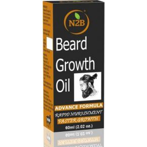 N2B Beard Growth Oil 60 ml Advance Formula Pack of 1 Hair Oil  (60 ml)