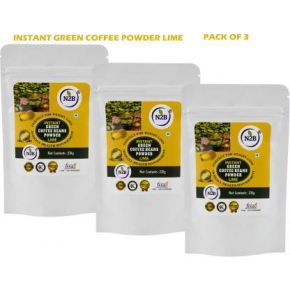 N2B Instant Green Coffee Lime 230g Pack of 3 Instant Coffee  (3 x 230 g, Green Coffee Flavored)