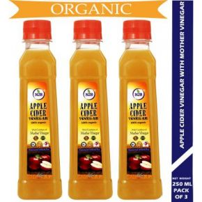 N2B Organic Apple Cider Vinegar 250ml Pack of 3 Vinegar  (750 ml, Pack of 3)