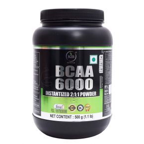 N2B BCAA 6000 with L-Leucine, L-Isoleucine and L-Valine, 500 g (Orange)