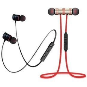 N2B MAGNET Black & Red Pack of 2 Bluetooth Bluetooth Headset  (Black, Red, In the Ear)