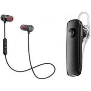 N2B MAGNET Black & k1 Pack of 2 Bluetooth Bluetooth Headset  (Black, True Wireless)