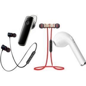 N2B MAGNET RED & BLACK-K1-I7 Pack of 4 Bluetooth Bluetooth Headset  (Black, White, Red, True Wireless)