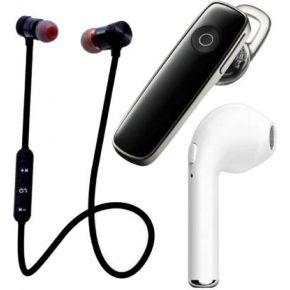 N2B MAGNET-K1-I7 Pack of 3 Bluetooth Bluetooth Headset  (Black, White, True Wireless)