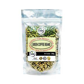 N2B A++ Grade Green Coffee Beans 200g Standing Pouch
