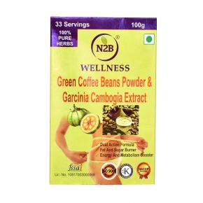 N2B GARCINIA CAMBOGIA & GREEN COFFEE POWDER 100g BOX