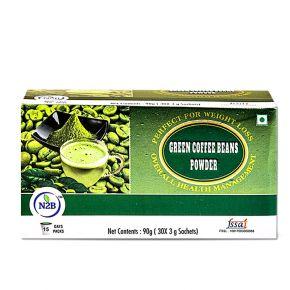 N2B Green Coffee  Powder 3gX30 Sachets Box