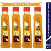 N2B Organic Apple Cider Vinegar 250ml Pack of 4 Vinegar  (1000 ml, Pack of 4)