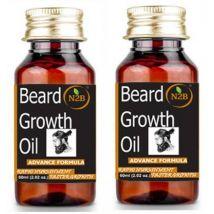 N2B Beard Growth Oil 60 ml Advance Formula Pack of 2 Hair Oil  (120 ml)