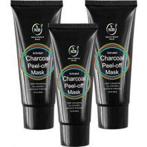 N2B Charcoal Peel Off Mask 60ml Pack of 3  (180 ml)