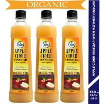N2B Organic Apple Cider Vinegar 750ml Pack of 3 Vinegar  (2250 ml, Pack of 3)