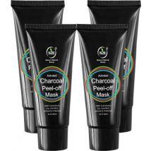 N2B Charcoal Peel Off Mask 60ml Pack of 4  (240 ml)