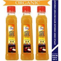 N2B Organic Apple Cider Vinegar 250ml Pack of 3 Vinegar  (750 ml, Pack of 3)