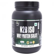 N2B ISO 100 Whey Protein Supplement with 100% Protein ISOLATE Hydrolized Whey Protein  (1 kg, Chocolate)